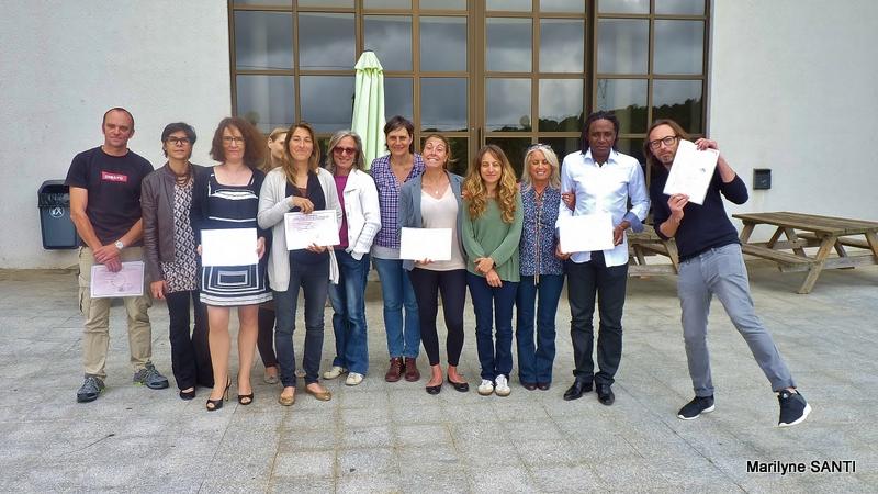 Remise de diplôme de la première promotion passant le DESJEPS au CSJC à Ajaccio