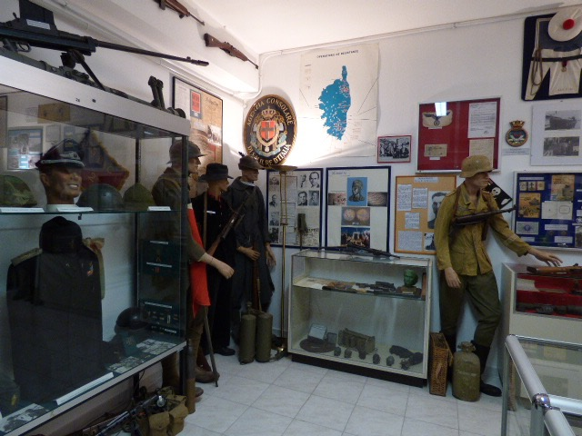 Toute l'histoire militaire de la Corse à travers des objets de valeur est détenue entre ces murs.