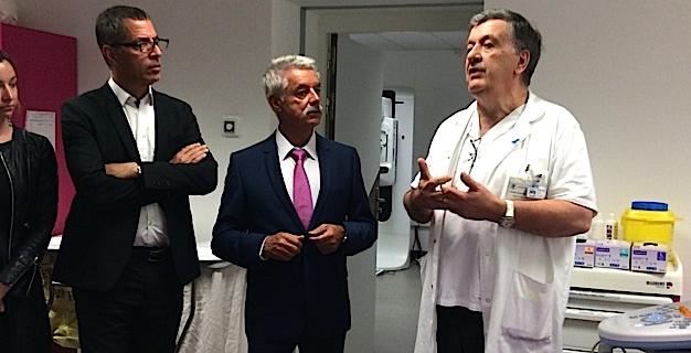 Pierre Savelli, Pascal Forcioli et le Dr Joseph Orabona, praticien hospitalier