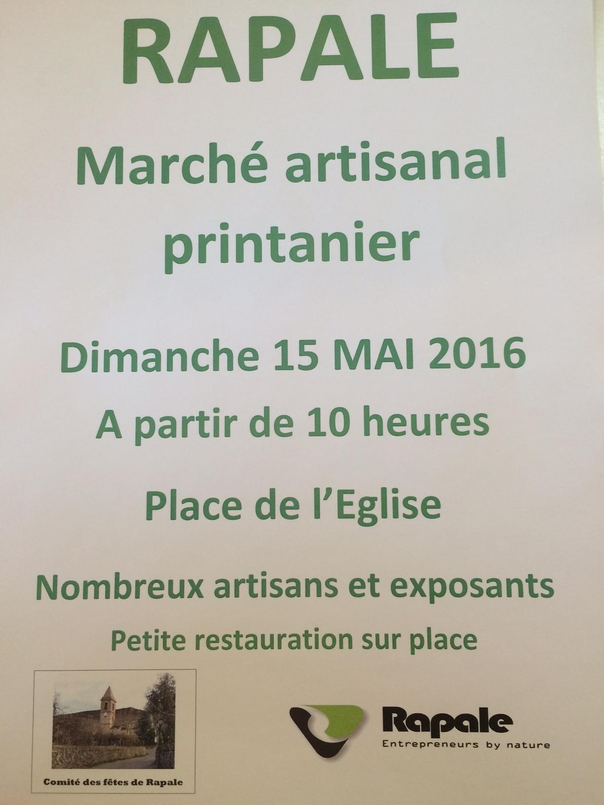 Rapale : Le marché printanier aura lieu dimanche