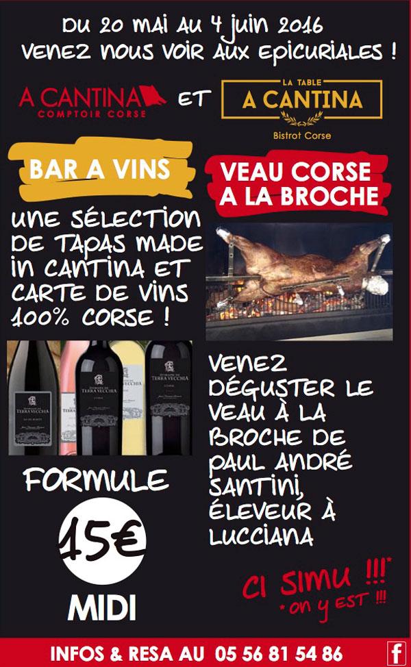 Le meilleur de la Corse aux Epicuriales de Bordeaux !