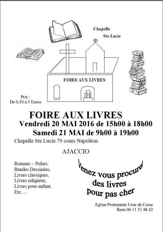 Foire aux livres à la Chapelle Sainte Lucie à Ajaccio