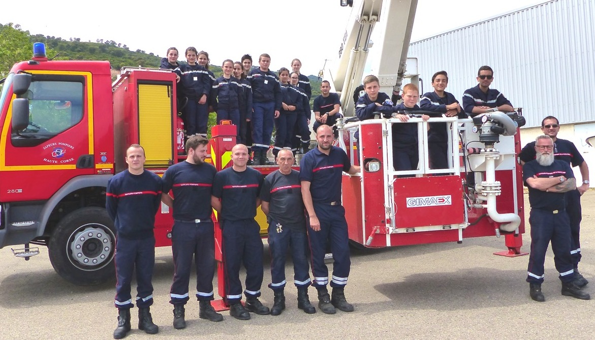 Le beau voyage des JSP de la Plaine chez les pompiers de Lucciana