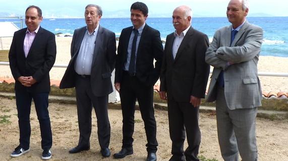 Jean-André Miniconi, Paul Trojani, Jean-Félix Acquaviva, Jean Biancucci et Philippe Dandrieux