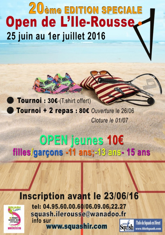 Open de squash à L'Ile-Rousse : Des nouveautés et un plateau exceptionnel