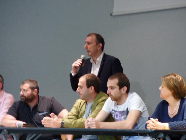 Jean Christophe Angelini a pris longuement la parole ce soir à Ghisonaccia.