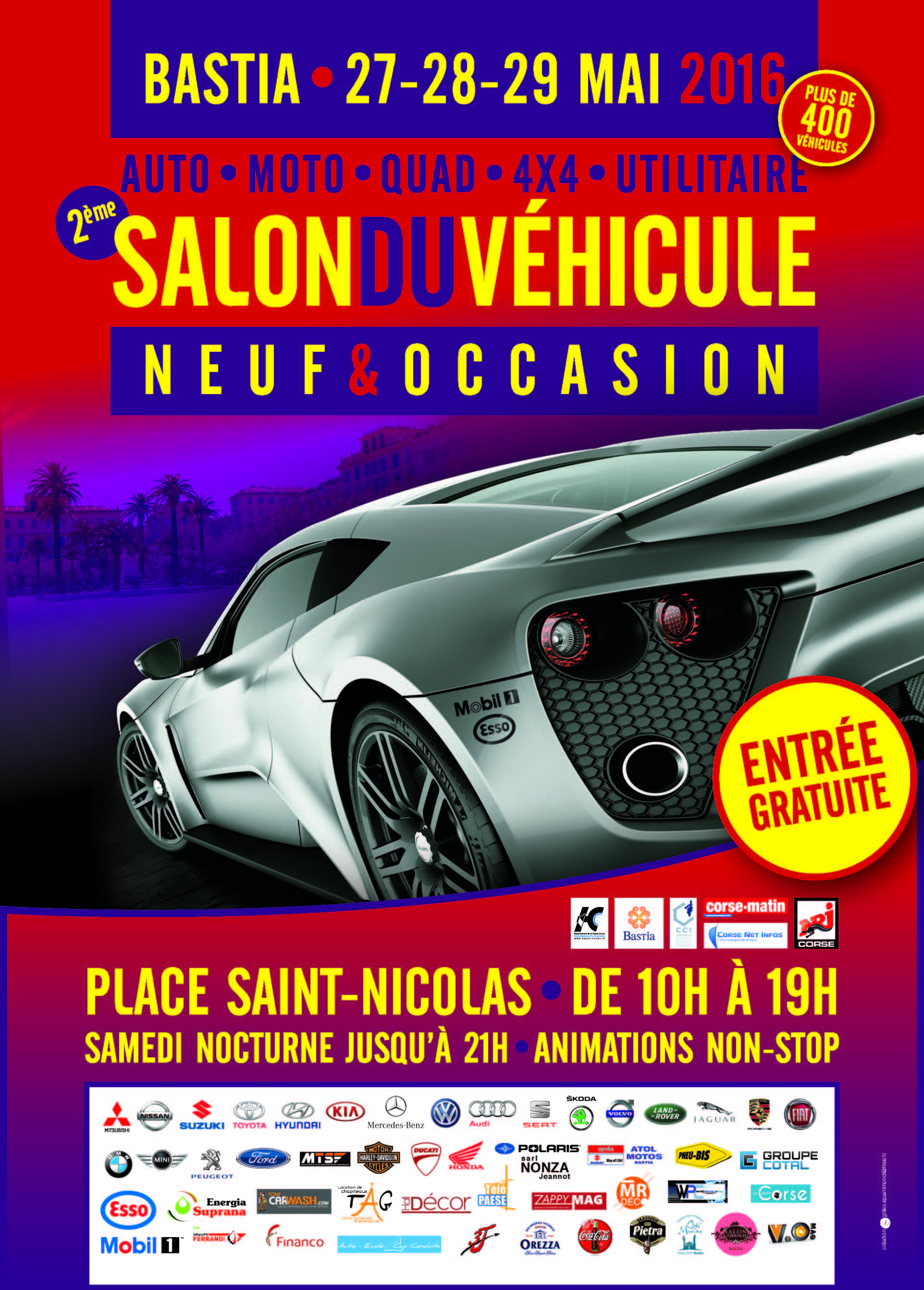 le coin des passionn s d 39 automobiles salon du v hicule neuf et d 39 occasion de bastia on ouvre. Black Bedroom Furniture Sets. Home Design Ideas