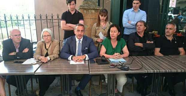 Le conseiller départemental, Marcel Francisci, entouré de ses pairs des Conseils départementaux de Haute-Corse et de Corse du Sud.