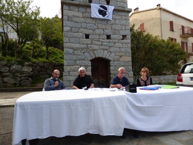 En présence de Jacques Denis, Jeanie Paoli et Pierre Jean Luccioni, Jean François Vinciguerra a tenu à remercier les personnes présentes.