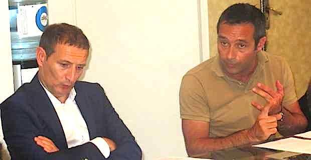 Les bâtonniers Me Jean-Sébastien de Casalta, du barreau de Bastia, et Me Jean-François Casalta du barreau d'Ajaccio.