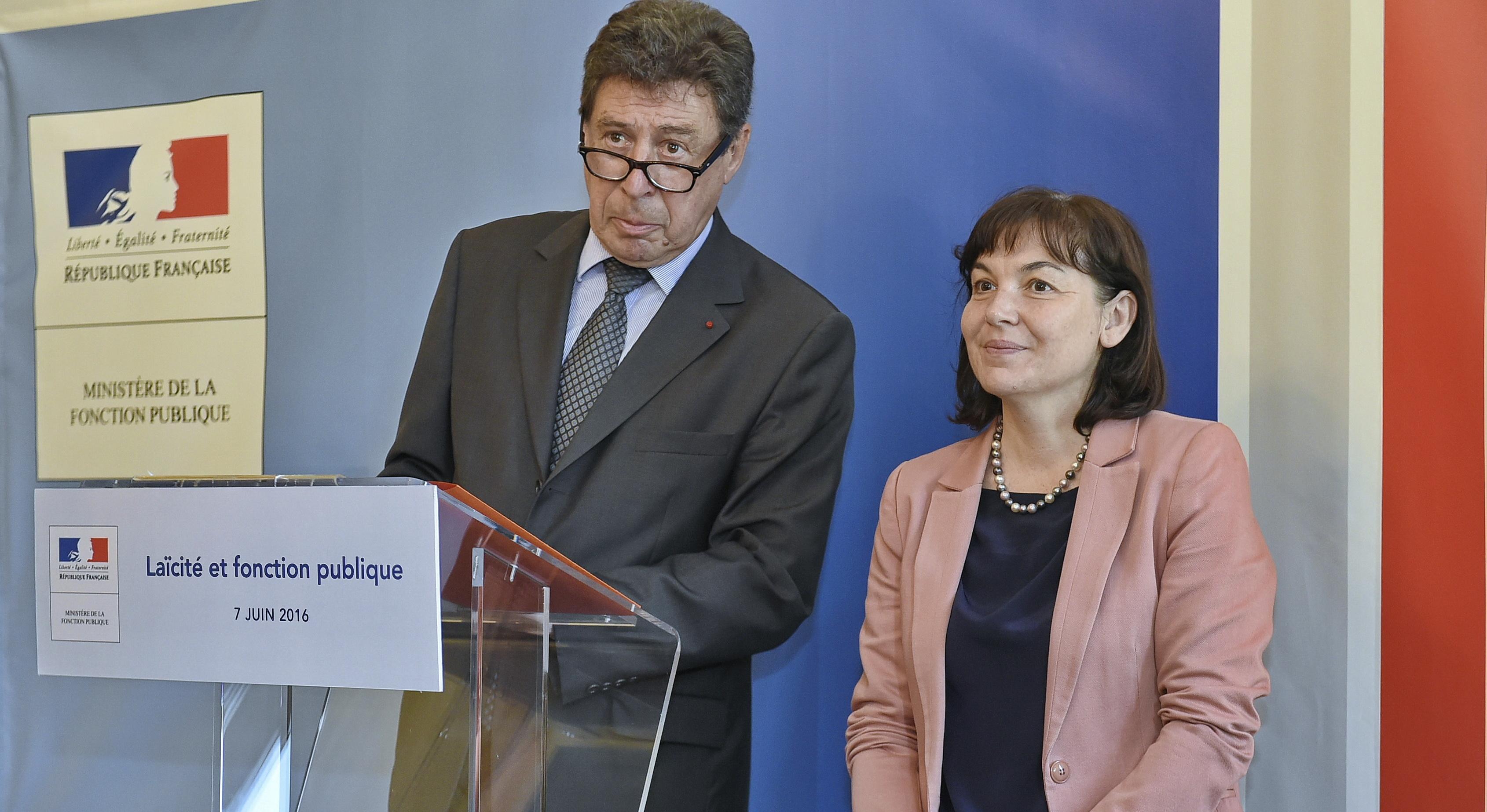 Emile Zuccarelli et Annick Girardin. (Photo P. Vedrune)