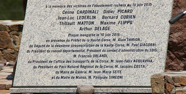 A Manso, l'hommage de la Corse aux victimes des Cascitoni
