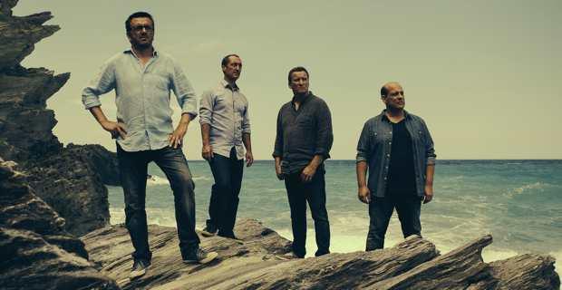 Les quatre chanteurs du groupe Barbara Fortuna : Maxime Merlandi, Jean-Pierre Marchetti, André Dominici et Jean-Philippe Giussani.