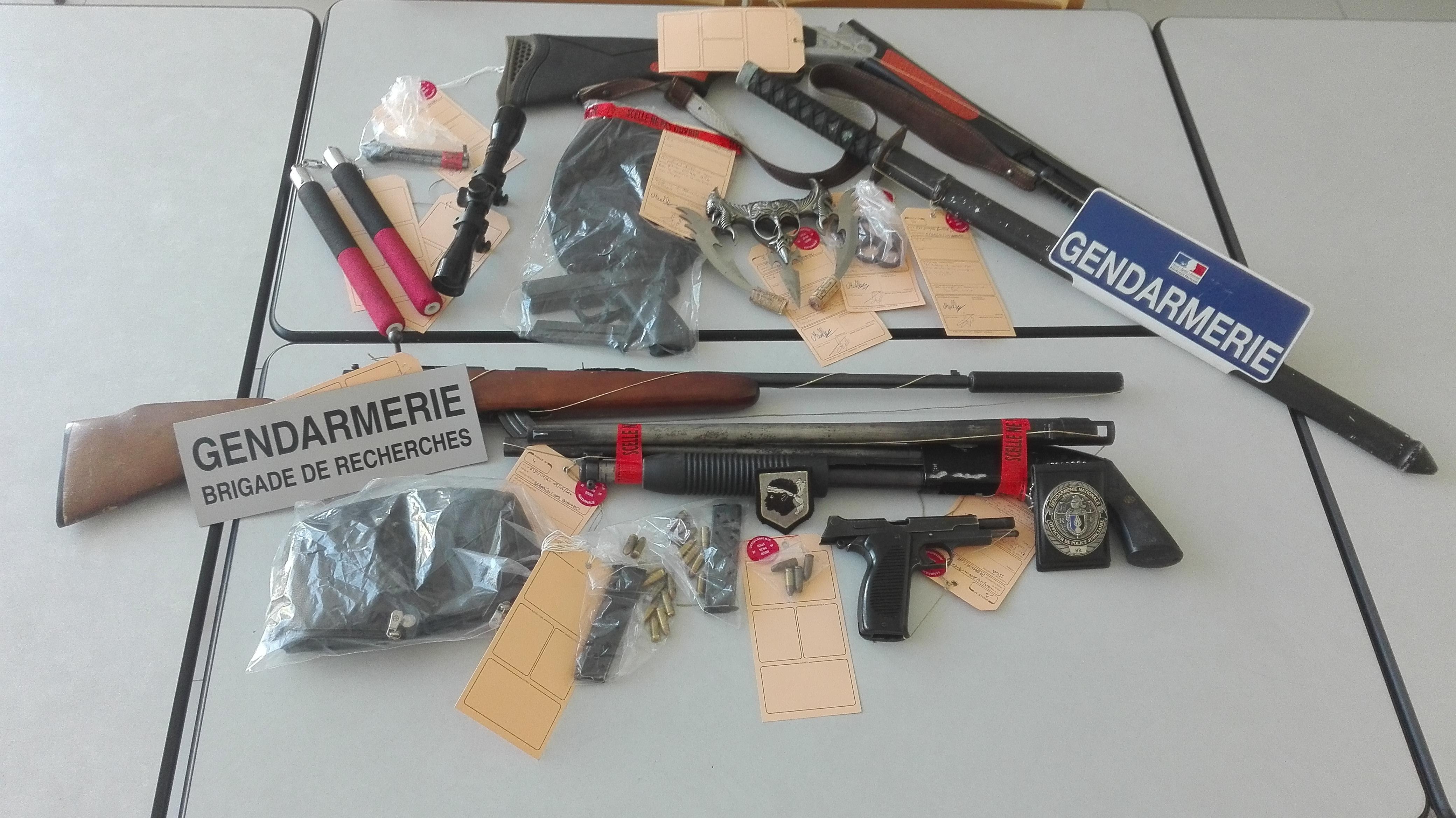 106 condamnations et 12 mandats de dépôts en 2015 : La recherche d'armes, une priorité en Haute-Corse