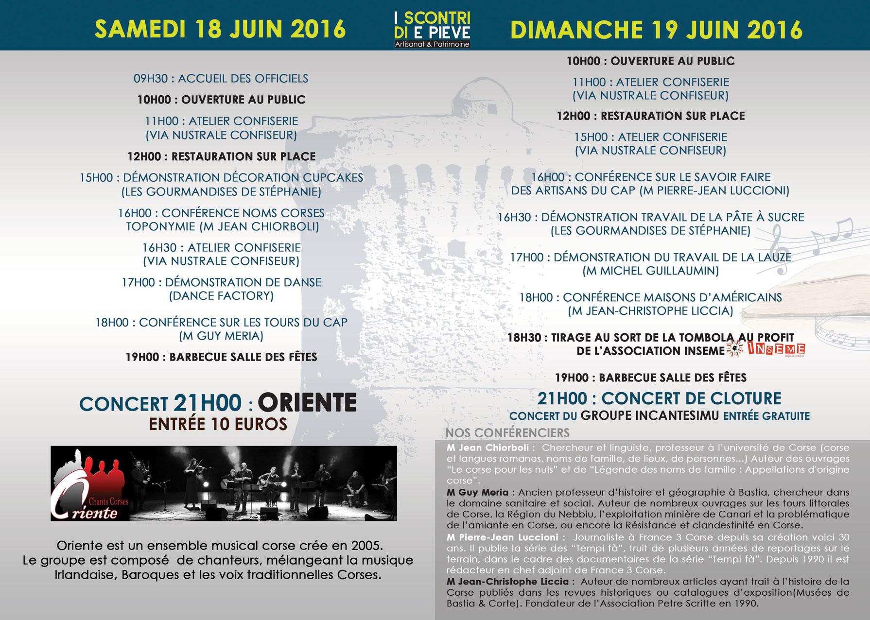 La Pieve di Lota raconte son histoire les 18 et 19 Juin