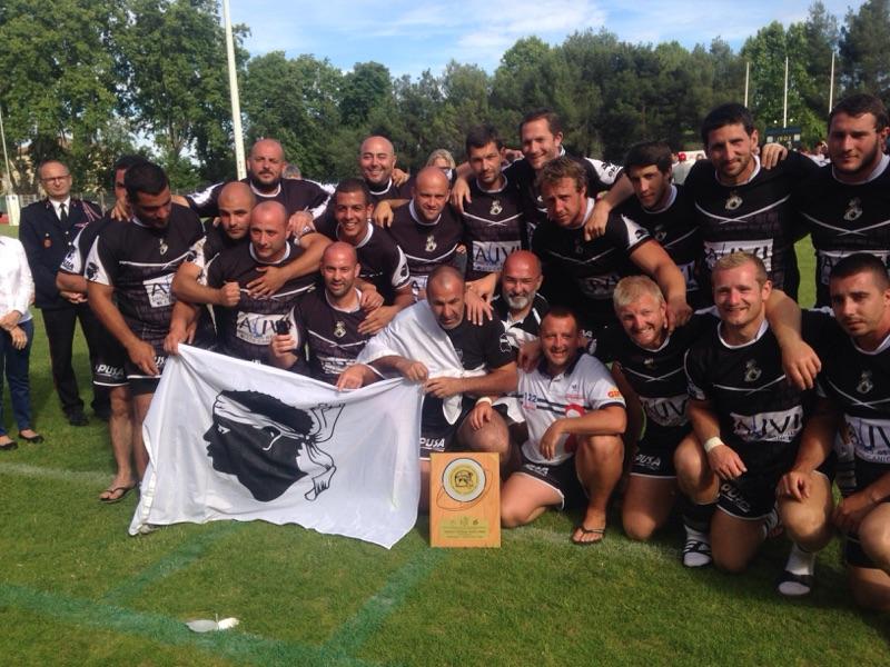 Rugby : Les pompiers de Corse vice-champions de France