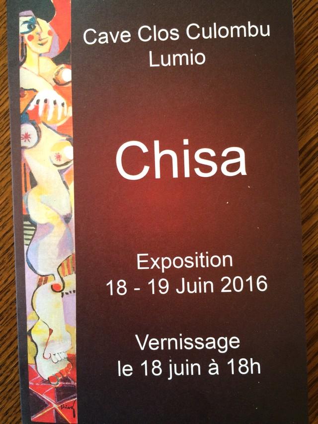 Les oeuvres de Chisa les 18 et 19 juin à Lumio