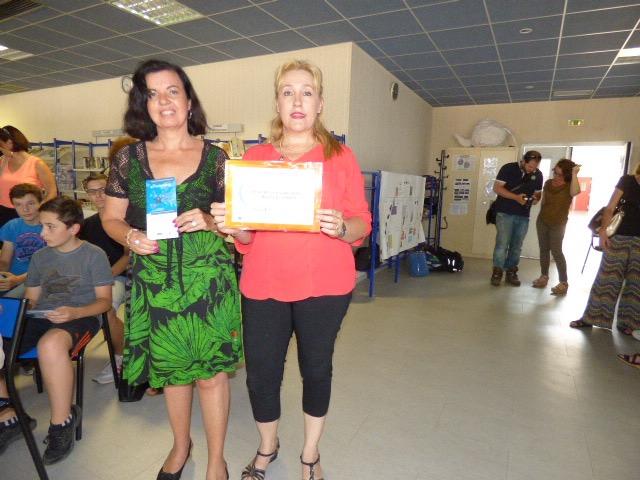Nadine Battistelli (à gauche sur l'image) a félicité Brigitte Collomb pour le travail accompli.