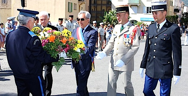 Cérémonie à Calvi pour le 76e anniversaire de l'appel historique du Général de Gaulle