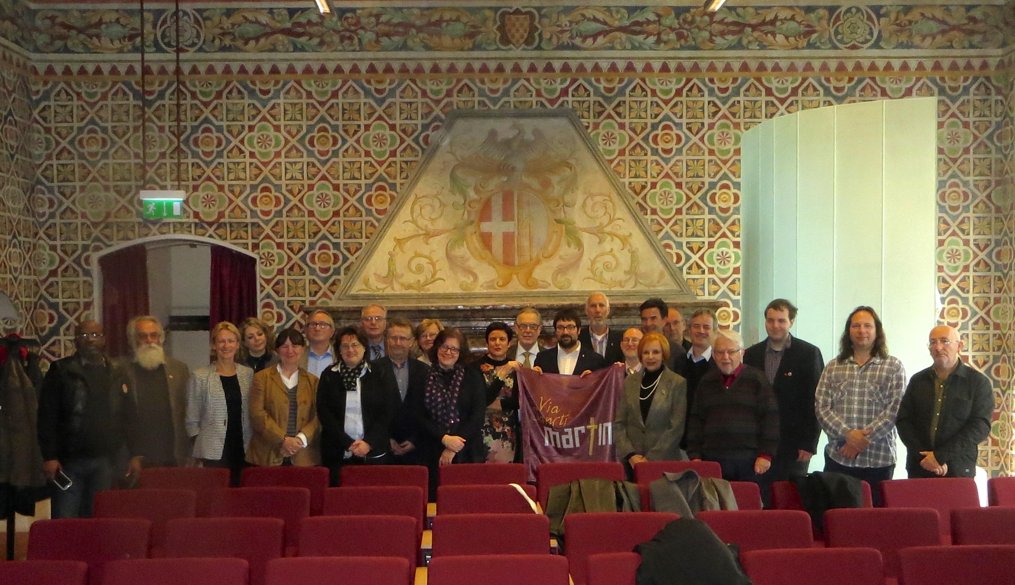 Les présidents des Centres culturels européens saint-Martin réunis à Pavie.