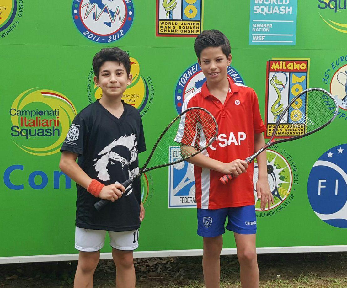 Antonin avec  le Turc Sen vainqueur du tournoi