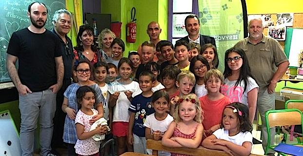 """Labellisation """"Eco Scola"""" pour l'école primaire d'Algajola"""