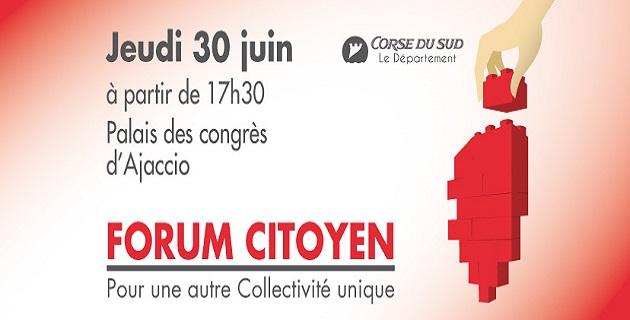 Département de Corse-du-Sud : Un forum citoyen pour une autre Collectivité Unique