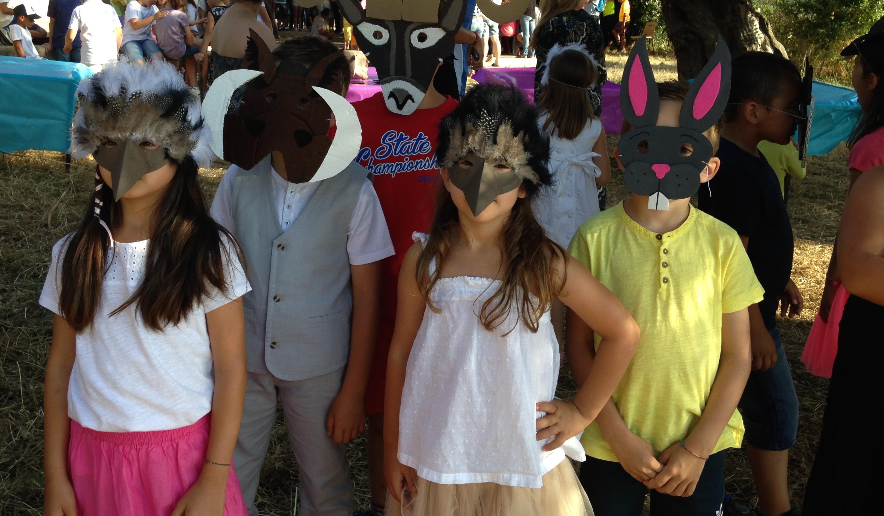 La belle fête de fin d'année à l'école d'Aregnu