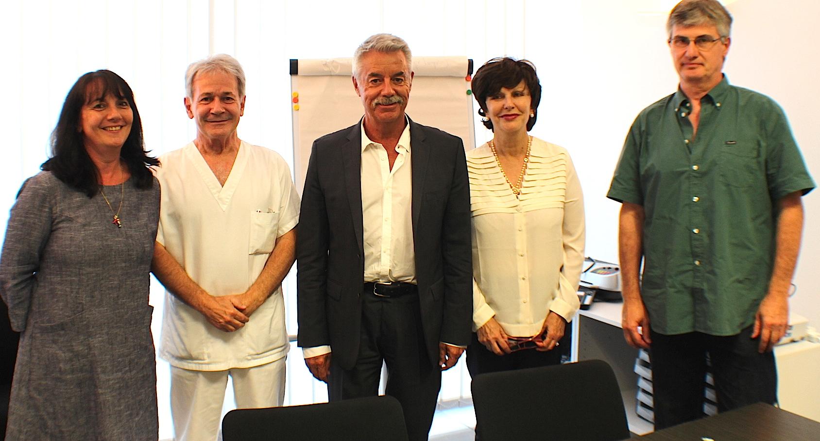 Catherine Langlade, le docteur Jacques Amadei, Pascal Forcioli, Marie-Pierre Steyer et le docteur Zonza : un projet médical partagé de territoire