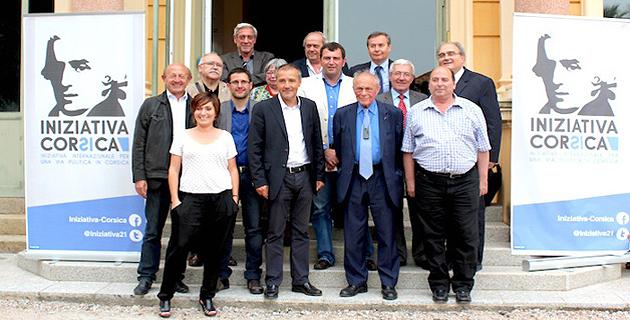 Michel Rocard à l'assemblée de Corse à l'initiative de Iniziativa Corsica