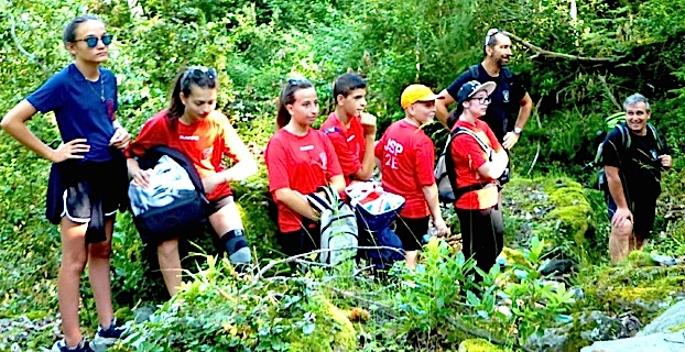 Une belle randonnée pour les jeunes sapeurs-pompiers de la Plaine