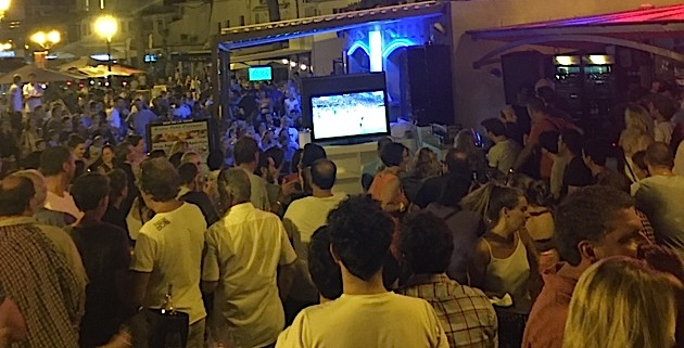 Les quais de Calvi se transforment en fan zone mixte !