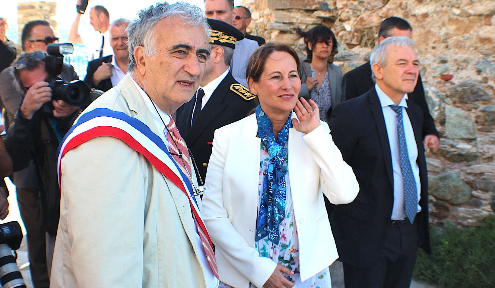 Ségolène Royal officialise le Parc Marin du Cap Corse puis interrompt sa visite