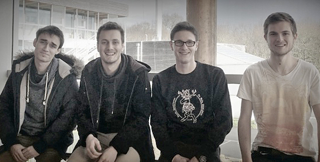 Yoann, Dimitri, Ugo et Mathieu de l'association GR'S