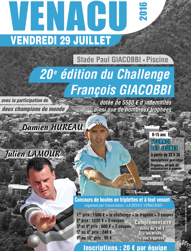 Pétanque : Deux champions du monde pour la 20e édition du challenge François-Giacobbi