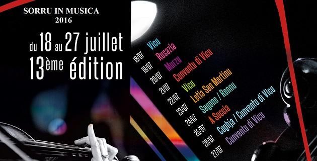 13ème édition Sorru in Musica: La rencontre de la musique et des hommes jusqu'au 27 juillet