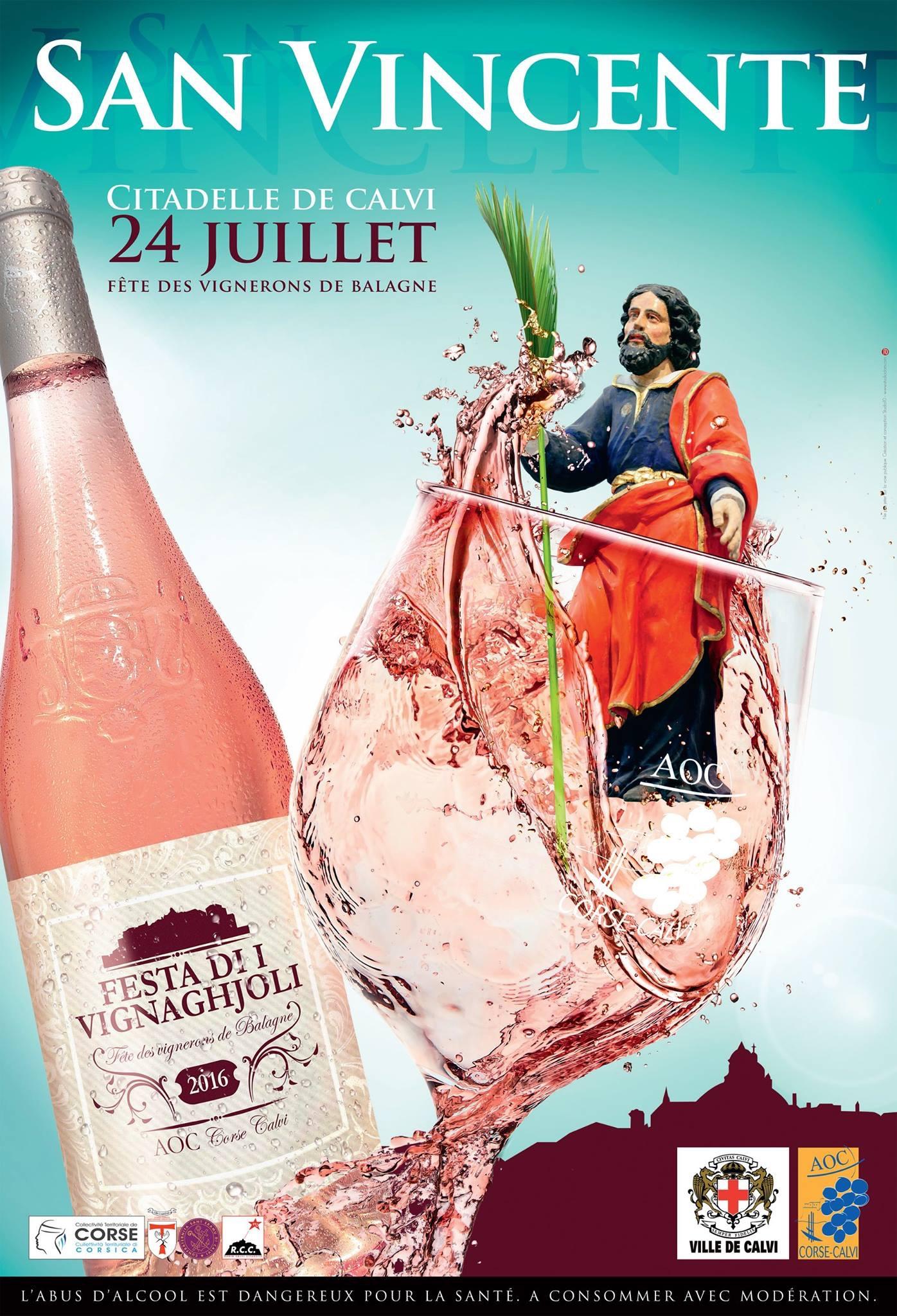Saint Vincent dimanche à Calvi  avec procession et dégustation de vins de Balagne
