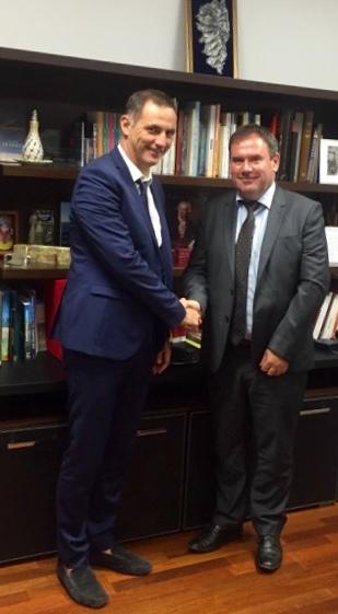 Christian Troadec reçu par le président de l'Exécutif corse, Gilles Simeoni.