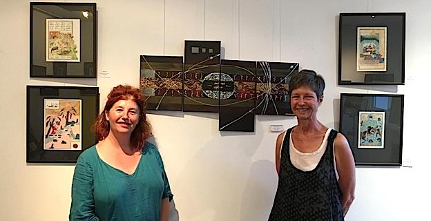 """Ajaccio : Odile Pierron et Pippa Keawmanee-Dieudonné à la """"Galerie aux Arts, etc"""""""