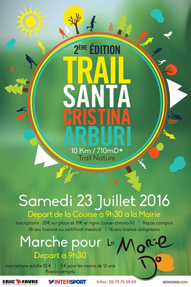 Trail : Deuxième édition du trail nature d'Arburi ce samedi