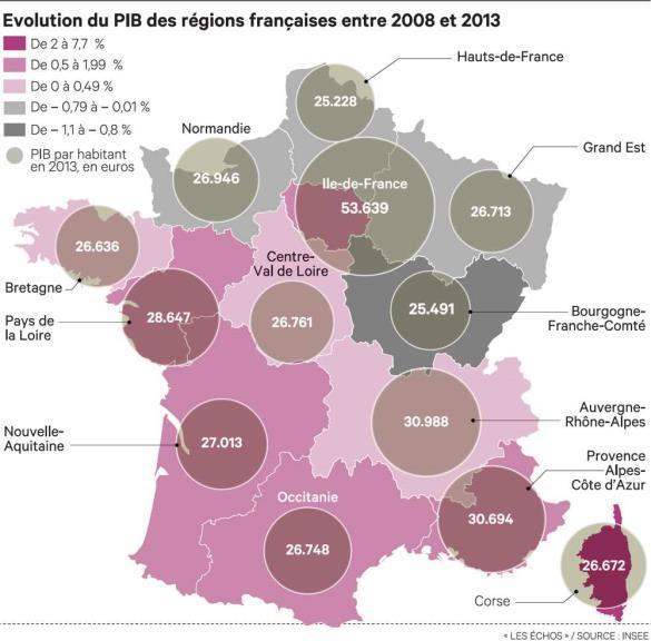 Selon l'INSEE, le PIB corse affiche la plus forte croissance des régions françaises depuis 2008