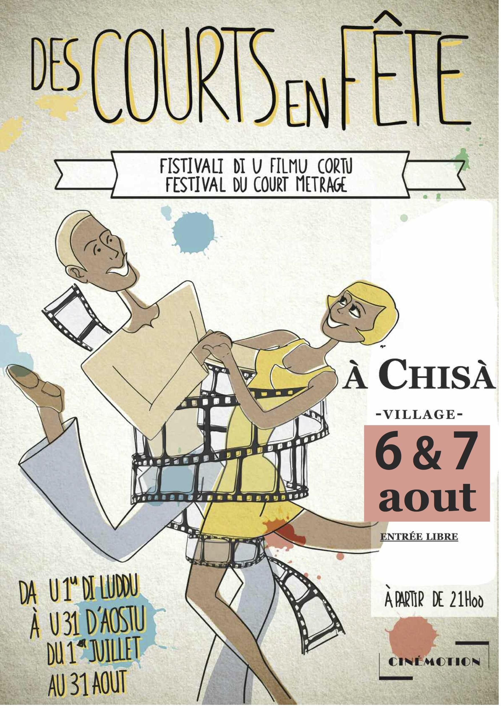 """Chisa village : Festival du court métrage """"Des courts en fête"""" les 6 et 7 aôut prochains"""