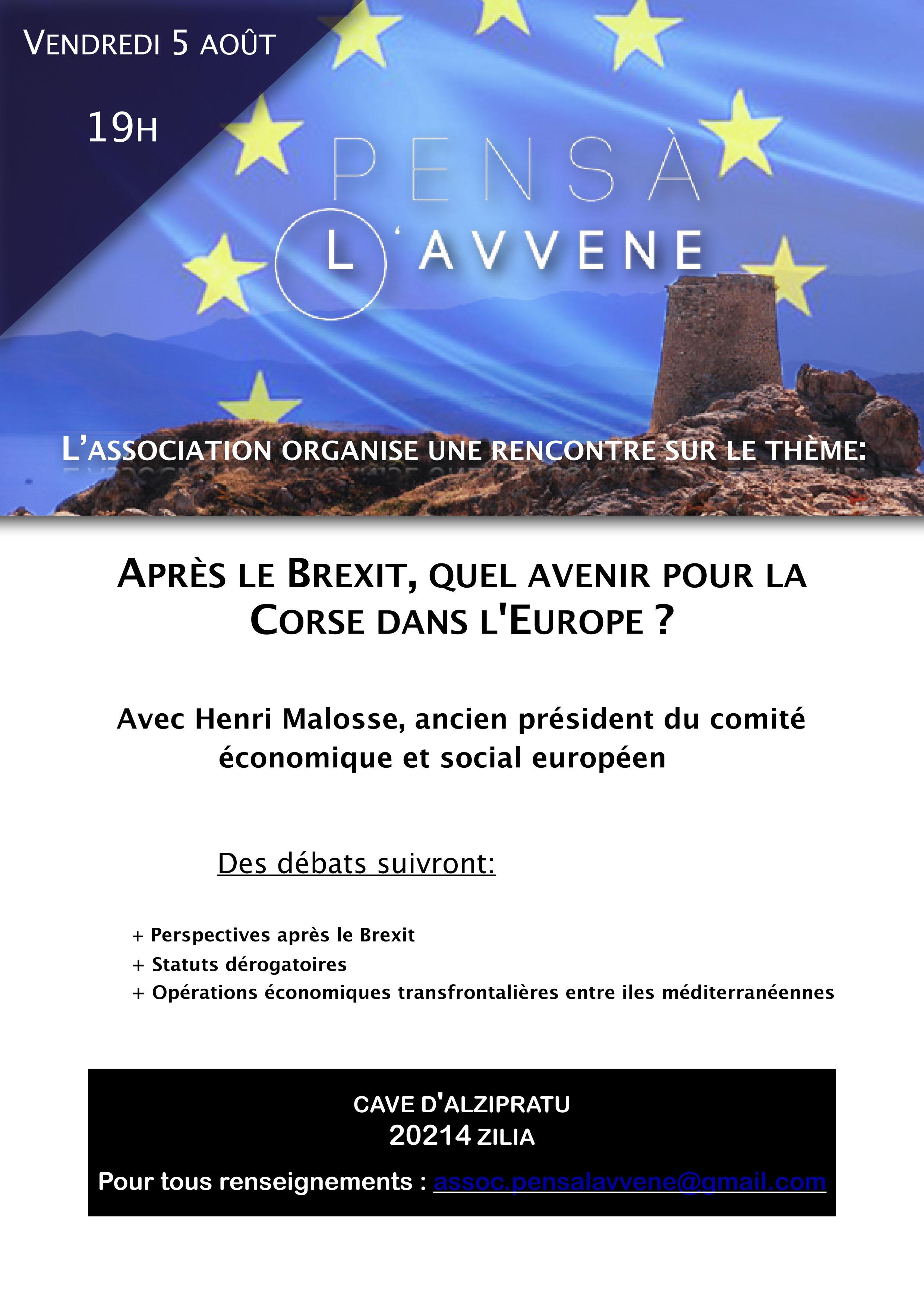 Rencontre-débat avec Henri Malosse à Calenzana sur le thème de la Corse et l'Europe