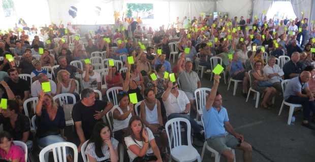 Le vote de la motion cloture l'assemblée générale.