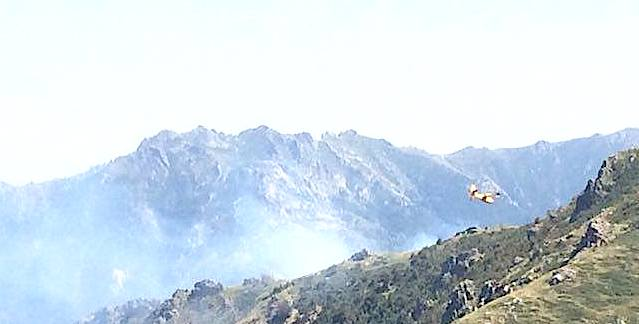 Incendie sur les hauteurs de Ghisoni