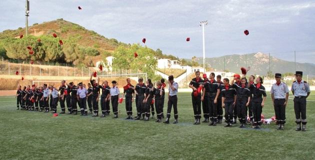 Cérémonie de fin d'année pour l'école des jeunes sapeurs-pompiers d'Ajaccio