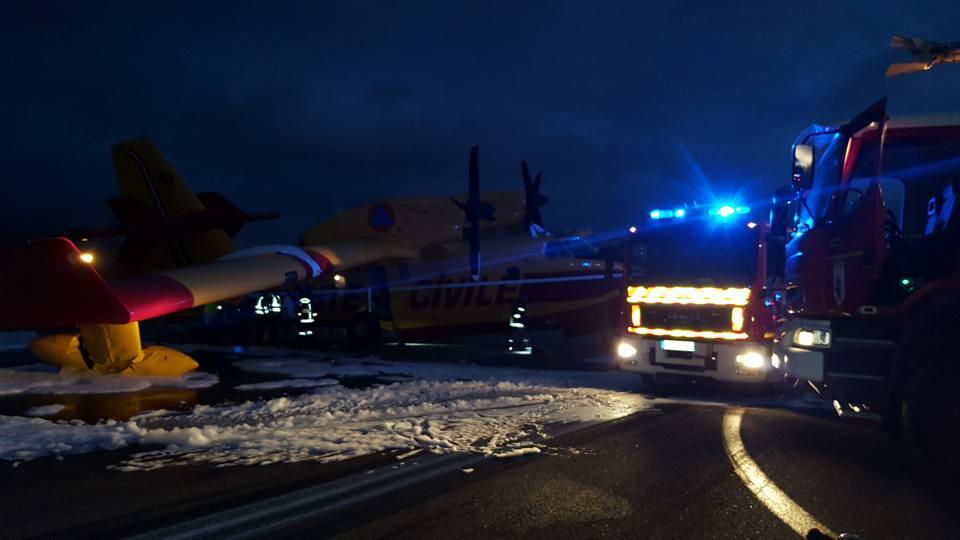 Ajaccio : Problème  au roulage pour un Canadair de la Sécurité civile. L'aéroport fermé