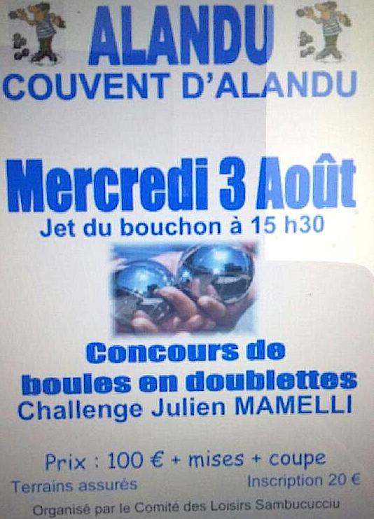 Concours de boules à Alandu