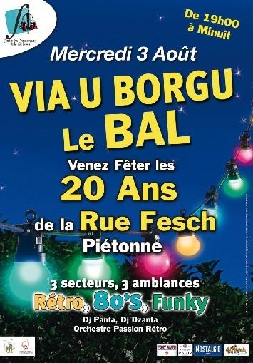 Via U Borgu le bal des 20 ans de la rue Fesch piétonne