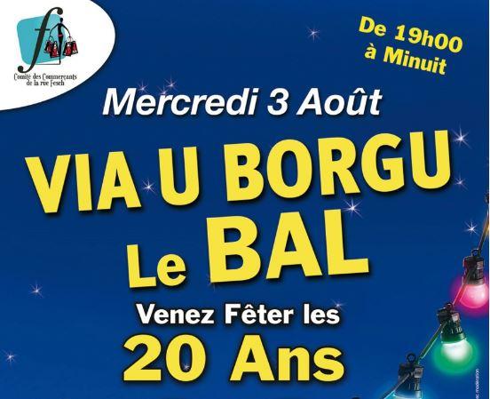20 ans de la Rue Fesch-U Borgu : Grand bal et fête populaire !